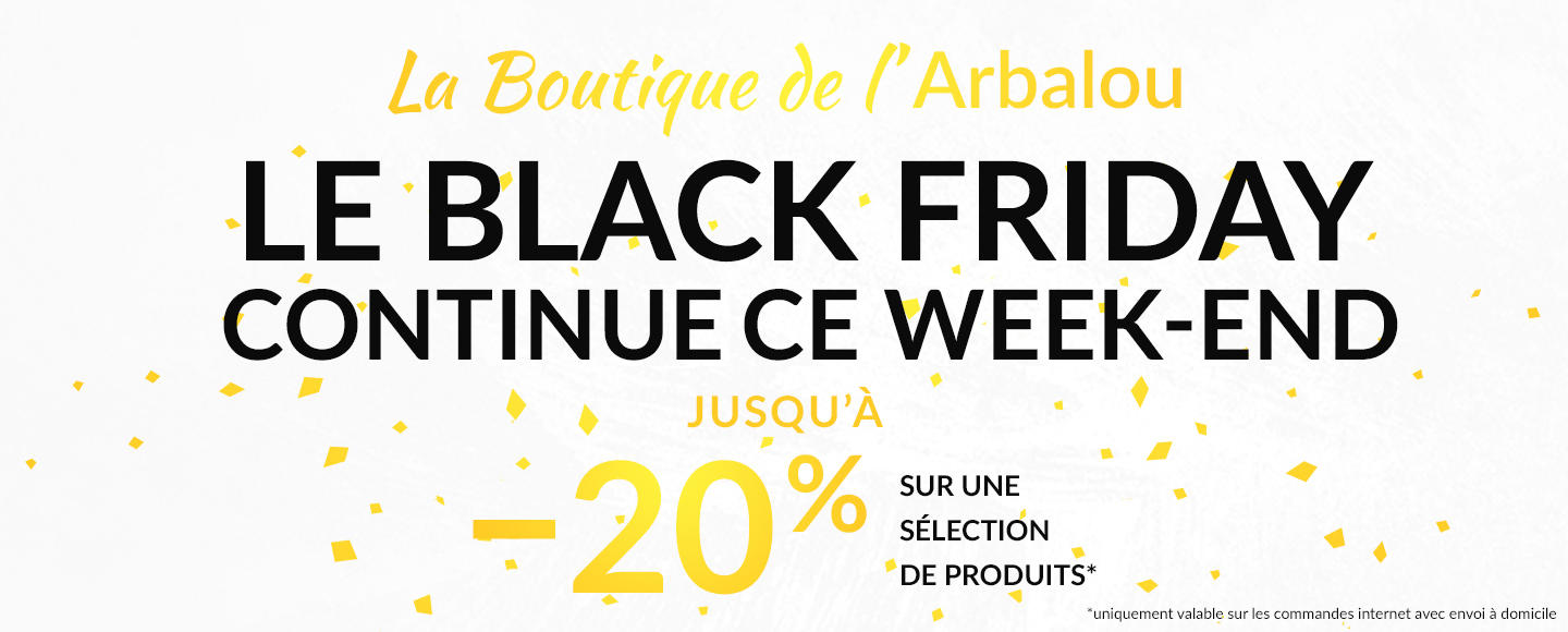 Arbalou Black Friday weekend