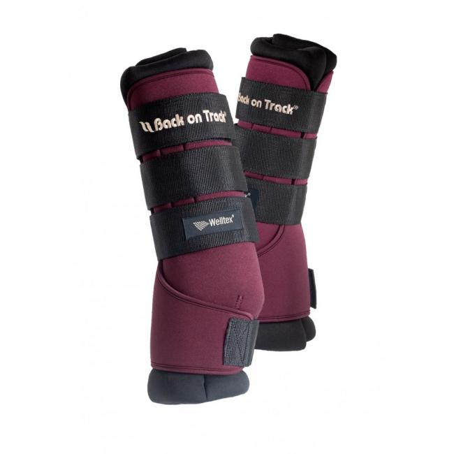 Photo produit Back On Track Stable Boots Royale Rubis, Back On Track Stable la boutique de l'arbalou, stable boots, back on track, Arbalou soins, guêtres repos cheval, guêtres transport cheval, récupération cheval, cheval âgé,