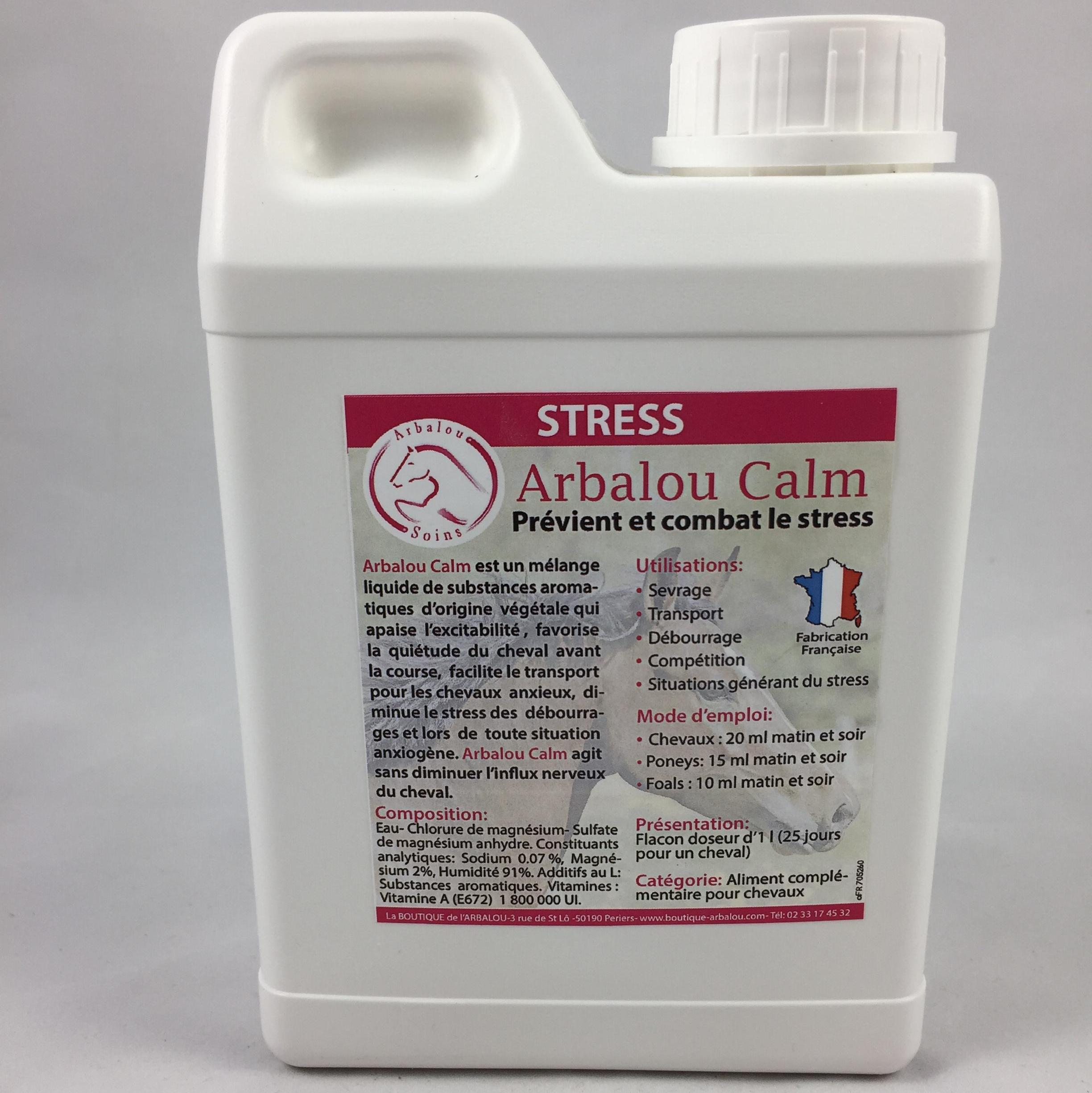 Photo produit Arbalou Calm combat le stress du cheval